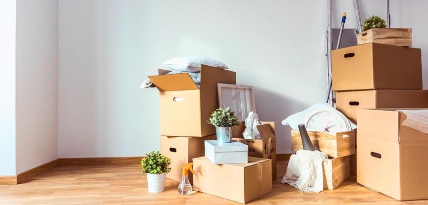 Mudança de casa para o apartamento novo